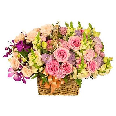 Giỏ hoa tươi - Vườn Hoa Muôn Sắc 3976
