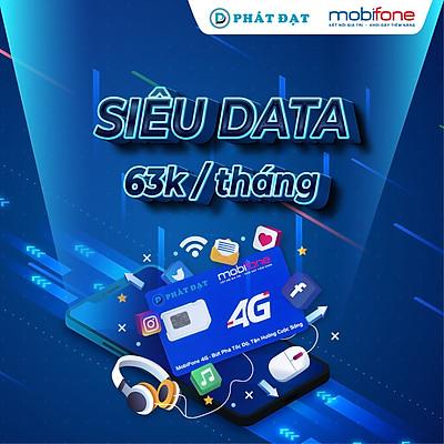 SIM 4G MOBIFONE - GÓI DATA 2GB/NGÀY - 63.000 VND/THÁNG - ( Không giới hạn dung lượng, giao số ngẫu nhiên, Hàng Chính hãng)