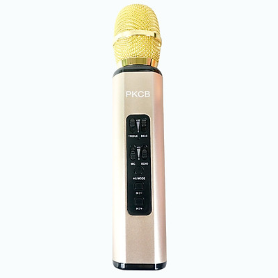 Micro karaoke kèm Loa bluetooth nhập khẩu cao Cấp Cắm thẻ nhớ 3 trong 1 Hàng chính hãng