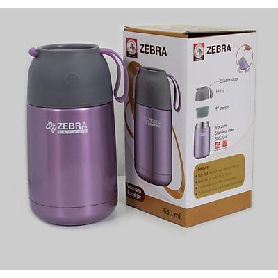 Bình ủ cháo giữ nhiệt zebra Thái Lan 650ml 123006-inox 304