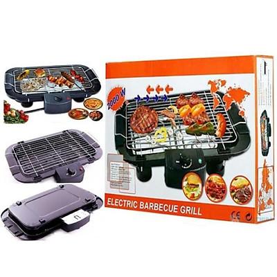 Bếp Nướng, Bếp Nướng Điện Cao Cấp Electric Barbecue Grill 2000W Không Khói, Tặng 1 Khăn Lau Cao Cấp