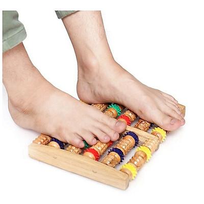 Dụng cụ massage chân bằng Gỗ cao cấp, Cây lăn chân 6 thanh Gỗ siêu tiện dụng-GD437-Massage-ChanGo