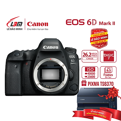 Máy ảnh Canon EOS 6D II BODY - Hàng Chính Hãng Lê Bảo Minh + KM Máy in ảnh phun màu Canon PIXMA TS6370