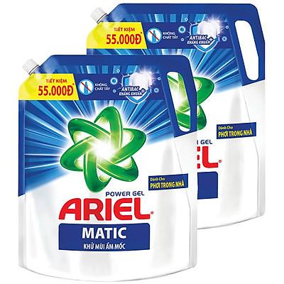 Combo 2 Túi Nước Giặt Ariel Khử Mùi Ẩm Mốc (2.1Kg/ Túi)