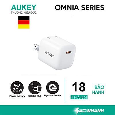 [Hàng chính hãng], Củ sạc nhanh 20W Aukey PA-B1pro, PD20W và QC 3.0