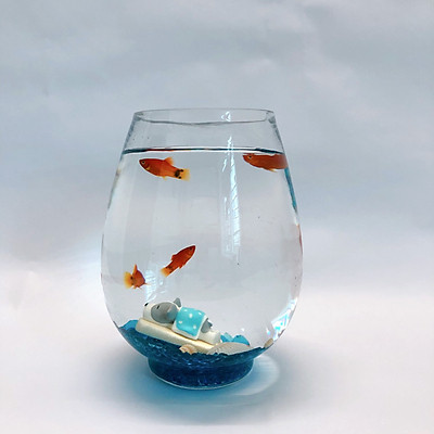 Bể cá mini thủy tinh để bàn đầy đủ phụ kiện - Bể cá mùa hè