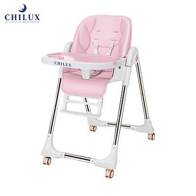 Ghế ăn dặm cho bé Chilux - Có thể gấp gọn - Bàn ăn rộng, Nhiều nấc điều chỉnh độ cao ghế