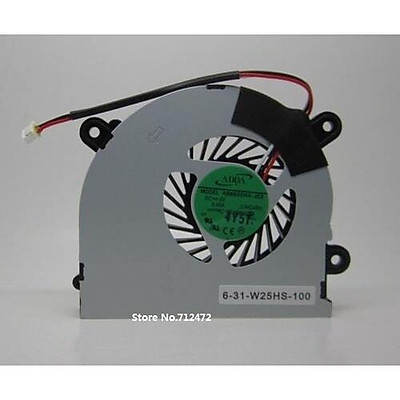【 Ready Stock 】SSEA New Laptop CPU Cooler Fan for MSI S6000 X600 for CLEVO 7872 C4500 Cooling Fan AB6505HX-J03 6-31-W25HS-100