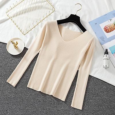 Áo len nữ trơn cổ tim Đũi Việt ALN56