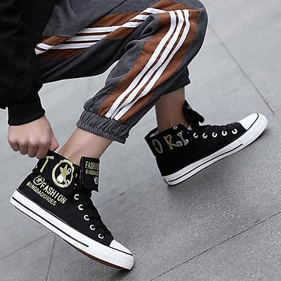 GIày sneaker thể thao cao cổ nam cổ bẻ Star Fashion, thời trang phong cách trẻ