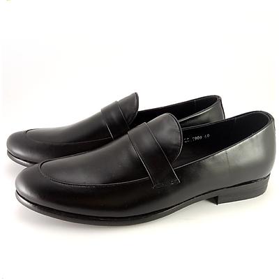 Giày L.S.C mũi tròn quai ngang trơn LS1909