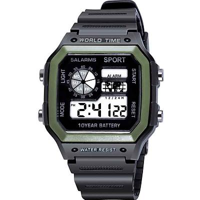 Đồng Hồ nam điện tử KASAWI N5599 đồng hồ điện tử nam mặt vuông thời trang đầy đủ chức năng dây nhựa silicon