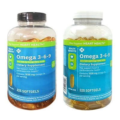 Viên uống dầu cá Member's Mark Omega 3-6-9 Supports Heart Health - Hộp 325 viên