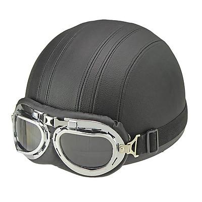 Motorcycle Helmet Unisex Men Women Open Face Half Visor Protection Goggles Safety Helmet