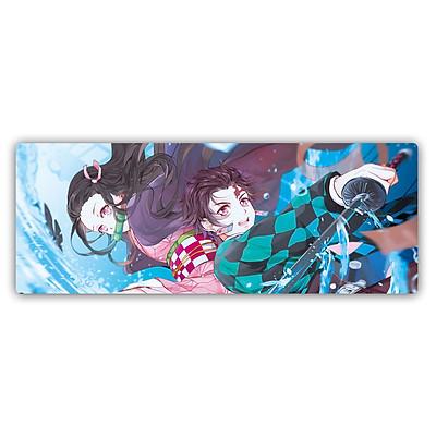 Miếng Lót Chuột, Bàn Di Chuột, mouse pad anime Kimetsu no Yaiba - Diệt Qủy Cứu Nhân cỡ lớn (80x30x0.3)