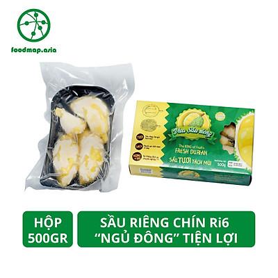 """[Chỉ Giao HCM] - Sầu riêng Ri6 (Tách Múi Sẵn) """"Ngủ Đông"""" Tiện Lợi - Hộp 500Gr - Foodmap"""