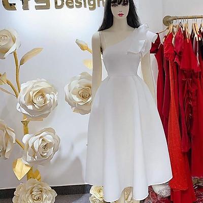 Đầm dự tiệc lệch vai bèo tay siêu xinh TRIPBLE T DRESS - Size S/M/L/XL (kèm ảnh/video thật) MS167V