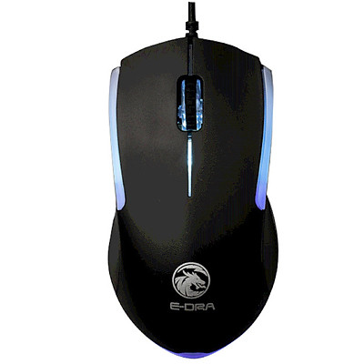 Chuột máy tính có dây EDRA EM602 Độ Phân Giải 1200 DPI, chơi game, cho Laptop hàng chính hãng