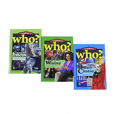 Bộ 3 cuốn - Danh nhân thế giới - Hillary Clinton, Stephen Hawking, Oprah Winfrey