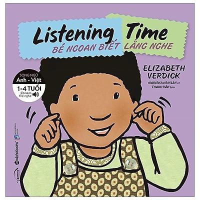Sách-bộ sách song ngữ kỹ năng sống cho bé-listening time-bé ngoan biết lắng nghe