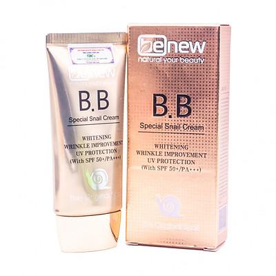 Kem lót nền trang điểm cao cấp Hàn Quốc BB Benew Special Snail (50ml) tinh chất ốc sên – Hàng Chính Hãng