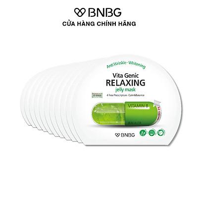 Combo 10 Mặt Nạ BNBG Phục Hồi Thư Giãn Da Vita Genic Relaxing Jelly Mask 30ml x10