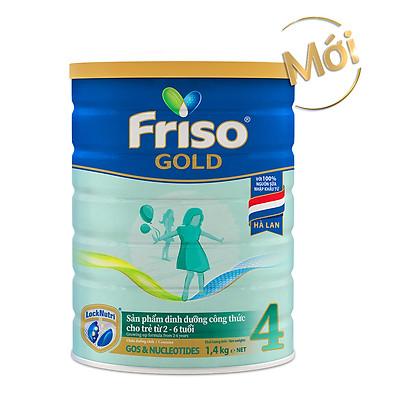 Sữa Bột Friso Gold 4 1400g (Dành Cho Trẻ Từ 2 - 6 Tuổi)