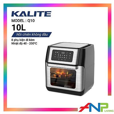 Nồi chiên không dầu kiêm lò nướng Kalite Q10 (12 Lít - 1800w) - Hàng Chính Hãng