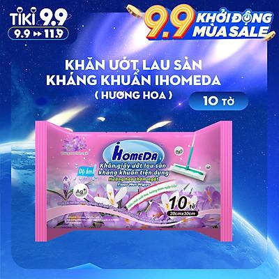 Khăn ướt lau sàn kháng khuẩn tiện dụng IHomeDa - Hương Lavender ( 10 miếng ) - iHomeda anti-bacteria floor and kitchen wet wipes ( 10 sheets per package)