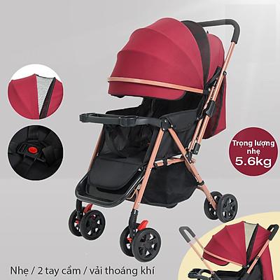 Xe Đẩy Trẻ Em, Xe đẩy 2 chiều cho bé trọng lượng 5,6kgs,xe đẩy em bé gấp gọn có thể xoay đến 360 độ