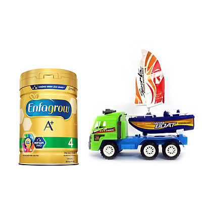 Bộ 1 lon Sữa bột Enfagrow A+ 4 với DHA và MFGM cho trẻ từ 2-6 tuổi (Lon 830g) - Tặng Đồ chơi xe chuyên dụng (Màu ngẫu nhiên)