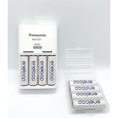 Bộ Sạc PIN ENELOOP AA/AAA Kèm 4 Pin Sạc Made In Japan ( Kèm Hộp Đựng Pin Sạc ) - Hàng Chính Hãng