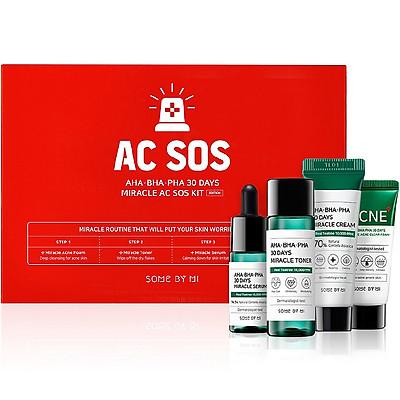Bộ sản phẩm cho da mụn Some By Mi AHA- BHA - PHA 30 Days Miracle AC SOS KIT