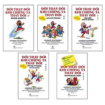 Combo ĐỜI THAY ĐỔI KHI CHÚNG TA THAY ĐỔI (Trọn bộ 5 cuốn Kỹ Năng Sống và Rèn Luyện Nhân Cách/ Tặng kèm Bookmark Happy Life)
