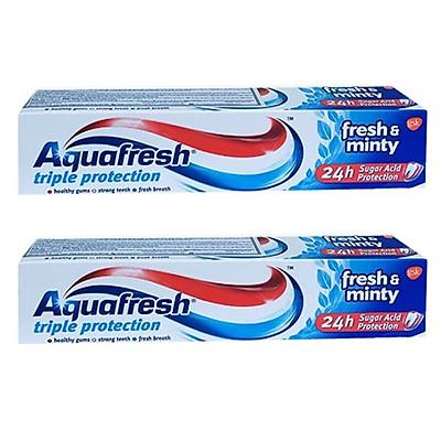 Combo 2 Kem Đánh Răng Aquafresh Fresh & Minty (100ml)