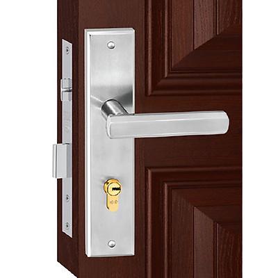 Ổ khoá cửa tay gạt Việt Tiệp 04380 hợp kim trắng dành cho cửa chính, thông phòng, ban công loại cửa gỗ, nhôm, nhựa, lõi thép