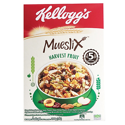 Ngũ Cốc Ăn Sáng Kellogg's Mueslix Harvest Fruit 375g