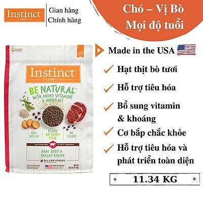 (Túi lớn 11,34kg) Thức ăn cho chó từ thịt bò và lúa mạch Instinct Real Beef & Barley Recipe