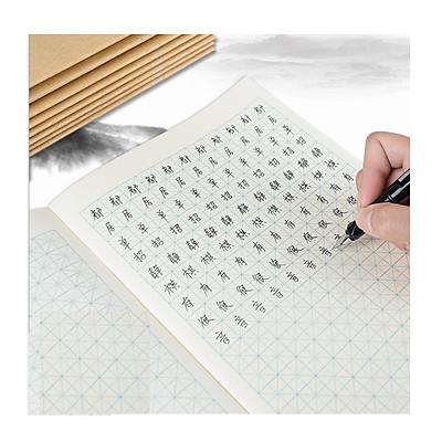 Combo 5 vở tập viết chữ Hán (ô chữ mễ màu xanh) dùng luyện viết chữ Nhật Hàn Trung, (1 quyển 18 trang)