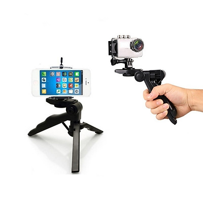 Tripod giá đỡ 3 chân mini đa năng hỗ trợ tay cầm, để bàn cho điện thoại, gopro