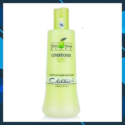 Dầu xả Chihtsai Volume Moisture Olive Conditioner siêu mượt tóc khô 500ml