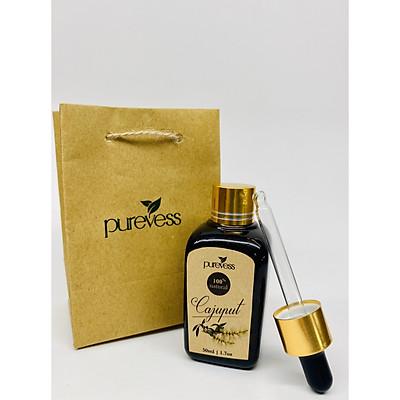 Tinh dầu Tràm (CAJEPUT) 50ml - PUREVESS   Giúp sát khuẩn, kháng khuẩn, giảm mệt mỏi và thư giãn.