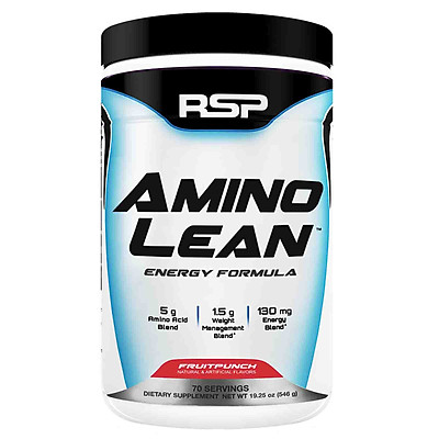 Thực phẩm bổ sung RSP Amino Lean - 70 Serving 630g vị Fruit Punch - Tăng cơ, Giảm mỡ, Phục hồi