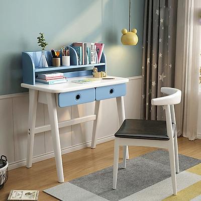 Bộ bàn ghế học sinh kèm giá sách, bàn học cho bé BAH043 Giao màu ngẫu nhiên
