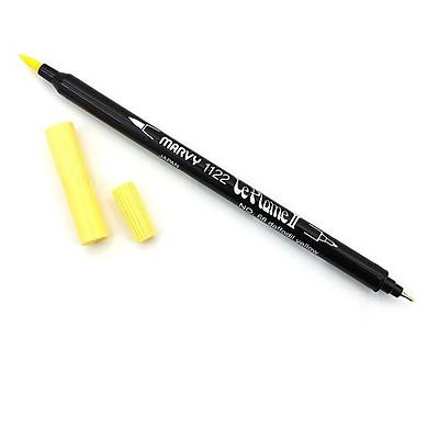 Bút lông hai đầu màu nước Marvy LePlume II 1122 - Brush/ Extra fine tip - Daffodil Yellow (68)