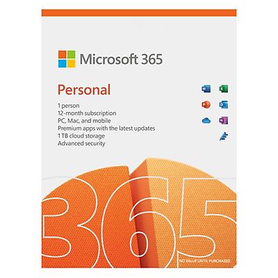 Phần mềm Microsoft 365 Personal English APAC EM Subscr 1YR Medialess P8 ( QQ2-01398  ) - Hàng Chính Hãng
