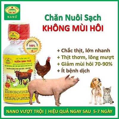 Chế phẩm sinh học VƯỜN SINH THÁI chăn nuôi Vỗ Béo không Mùi Hôi - Vật nuôi chắc thịt lớn nhanh ít bệnh dịch - Thức ăn bổ sung cho chó mèo lợn gà