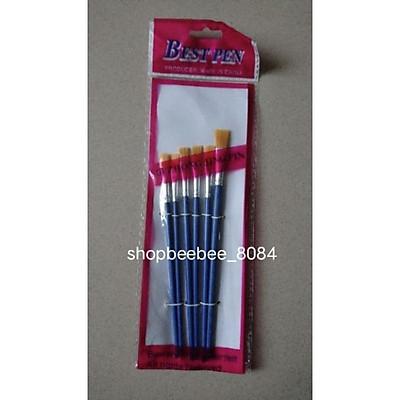 Set 6 bút lông, cọ vẽ màu nước