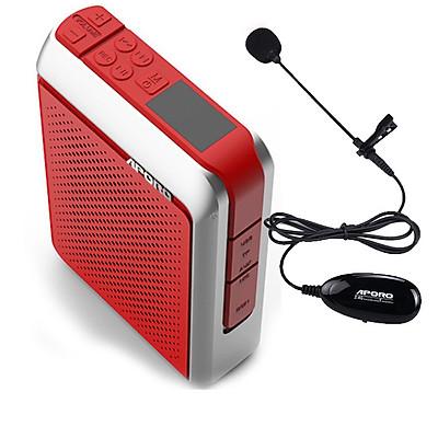 Máy trợ giảng không dây Aporo T18 2.4g micro cài ve áo ( đi kèm 1 micro có dây ,sạc nguồn ) hàng nhập khẩu