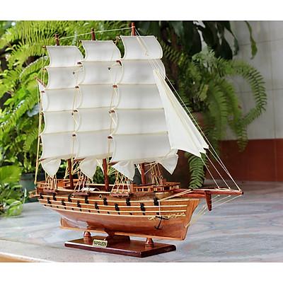 Mô hình thuyền buồm gỗ trang trí Napoleon - thân tàu 80cm - trang trí nhà cửa - phòng khách - bàn làm việc, quà tặng tân gia - sinh nhật - khai trương